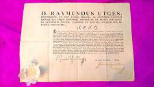 Philosophie Du Titre de Joaquin Balcells Accordée par Rector Ramon Utges 1835