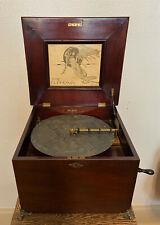Antique Euphonia No 52 Wind Up Music Box, 35 Tune Discs, Original Manual +Works