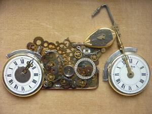 Bild - Motorrad aus Uhrenteilen                                       (Art.4582)