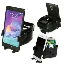 Universal 2in1 Car Air Vent Drink Bottle Mount Stand Mobile Smart Phone Holder