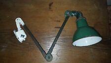 Torno Industrial Antiguo Vintage Lámpara Luz totalmente articulado EDF máquina de coser