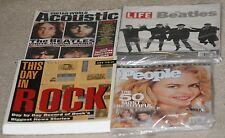 The Beatles related lot. 2 mags:Life/GuitarWorld, 1 book:DayinRock, + free mag!