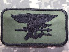 U.S. Navy SEALs Special Warfare morale nametag velcro parche verde oliva