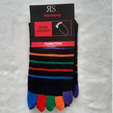 1 Pair Women's Rings Toe Socks Hygienic Socks Black Colorful Toes 36 To 41