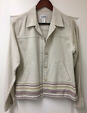 Christopher & Banks ~ Women's Jacket ~ Size M ~ Oatmeal Beige Color