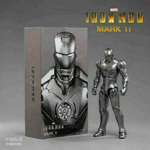 "ZD TOYS Iron Man MK 2 Mark II 7"" Action Figure Marvel Legends Model Toy"