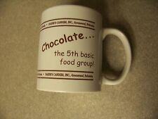 Chocolate the 5th basic food group ceramic white coffee mug cup