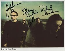 Porcupine Tree FULLY Signed 8 x 10 Photo Genuine In Person Steven Wilson + 3