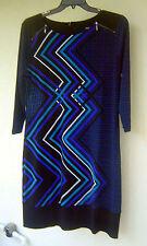 Calvin Klein Women's Regular Geometric Knee-Length Dresses