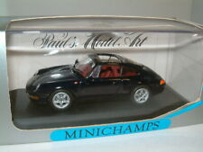 1/43 PORSCHE 911 TARGA 1995 IN METALLIC BLACK , MINICHAMPS.