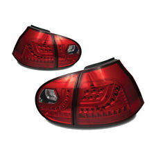 06-09 Volkswagen MK5 GOLF GTI RABBIT LED Tail Lights Chrome Red VW Rear Lamp SET