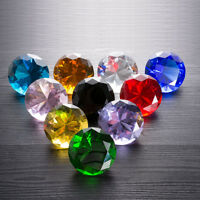 Colorful Crystal Cut Glass Diamond Shaped Paperweights Wedding Lady Gift 60mm
