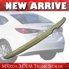 Painted MAZDA 3 OE ABS Trunk Lip Spoiler Rear Wing 2014-2018 4DR Sedan §