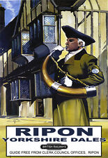 Ripon for the Yorkshire Dales British Railways Rail Travel Railway Poster Print