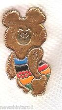 #D77.  1980 RUSSIAN OLYMPIC MASCOT PIN - MISHKA THE BEAR