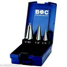 Coffret 3 forets coniques HSS-G taillé-meulé BOHRCRAFT  ABS-Box  B 3-K  -