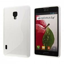 LG Optimus L7 II P710 custodia protettiva morbida bianco case cover