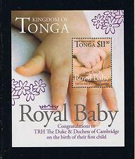 Kingdom Tonga Postage Stamp – Birth of Prince George – William & Kate's Baby SS
