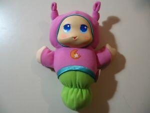 """8.5"""" plush Gloworm doll with song and light up head, good working condition"""