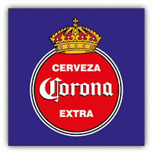 "Corona Cerveza Extra Mexican Beer Drink Car Bumper Sticker Decal 5"" x 5"""