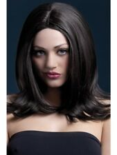 Brown Fever Sophia Wig, 17inch/43cm Adult Womens Smiffys Fancy Dress Costume