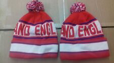 A PARCEL OF 12 ENGLAND POM POM  BOBBLE HAT  BEANIE  KNITTED WOOLLY HAT .JOB LOT