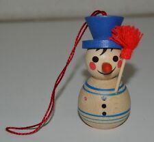Steincach Wood Christmas Ornament Frosty The Snowman Volkskunst Hohenhameln Rare