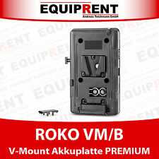 ROKO VM/B Premium V-Mount / V-Lock Akkuplatte / Akkuadapter mit D-Tap (EQ905)