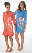 Damen Nachthemden 2 Stück = 1 Preis DF859V  100% Baumwolle Jersey
