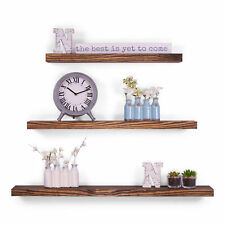 "5.25"" Deep Clean Edge Pine Floating Shelves 24"" 30"" 36"" (Set of 3) (Espresso)"