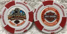 Rattlesnake Mountain Harley-Davidson® in Tri-Cities, WA Poker Chip White/Red/Red