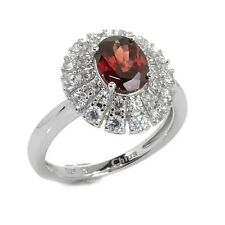 COLLEEN LOPEZ 2.28 CT NATURAL RED ZIRCON STERLING SILVER RING SIZE 5 HSN $219.90