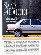 1995 SAAB 9000 CDE Original Car Review Print Article J511