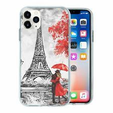 For Apple iPhone 11 PRO MAX Silicone Case Red Paris Nature - S6310