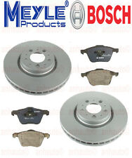 PAIR Front Anti Rust Rotors & Front BRAKE Pads VOLVO XC90 with 316mm Diam Disc
