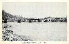 Vintage Postcard; Scenic River View, Apollo PA Armstrong County Unposted