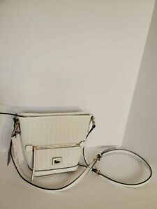 Dooney & Bourke White Camden Woven Mini Hobo Crossbody NWT