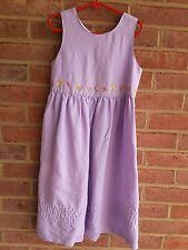Girls Vtg Gymboree Dress Sleeveless Lavender Maxi Dress Easter Spring Size 6/ 7