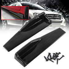 Pair Carbon Fiber Black Car Side Anti-scratch Skirt Spoiler Rocker Splitters Kit