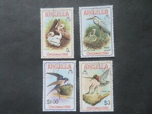 1980 Anguilla Christmas Birds SG416-9 Fine Used Set