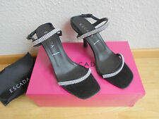 Escada Satin Sandaletten NP 479€ wNEU TOP High Heels Pumps Schuhe Gr 37 37,5 38
