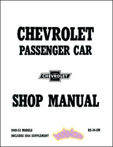 Repair Manuals Literature For 1954 Chevrolet Bel Air For Sale Ebay