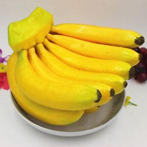 Lifelike Artifical Imitation Banana Fake Plastic Fruit Mould Props Home Decor UK