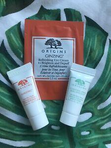 Origins Samples Face Wash Serum Eye Cream