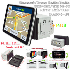 Doble 2Din 10.1In Android 8.1 Bluetooth Coche Radio Estéreo reproductor de MP5 GPS SAT NAV