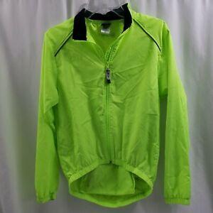 Canari Jacket Softshell Windbreaker Cycling Bicycle Neon High Vis Mens Medium