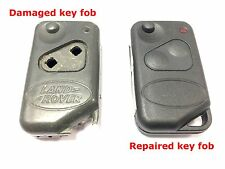 Repair refurbishment service for Range Rover P38 remote flip key fob + new case