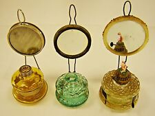Lot of 3 Vintage style oil lamps, Handy Lamp, kerosene lamp, very old and rare