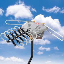 Outdoor 150 Miles HDTV 1080P TV Antenna Amplified Motorized HD 36dB UHF VHF FM
