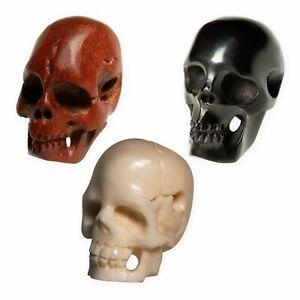 Totenkopf Perlen Skull Anhänger Horn Holz Knochen Kette Armband Bartperle Biker